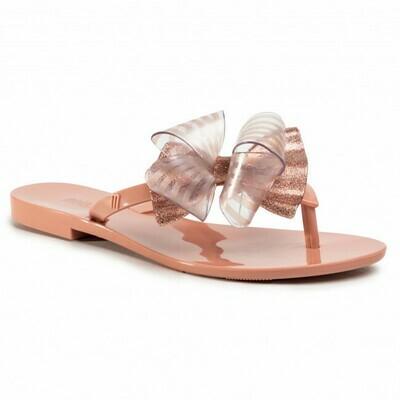 Melissa Harmonic Sweet Sweet Flip Flop in Pink Glitter