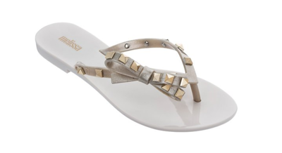 Melissa Harmonic Gold Stud Sandals in Gold Twinkle