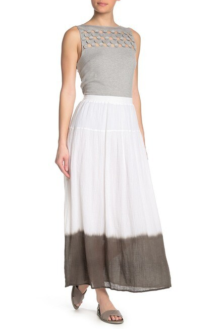 Bailey 44 Monsoon Skirt in White and Palm