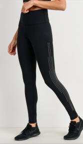 Mono B Rhinestone High-waist Leggings In Black