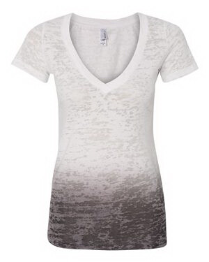 Mono B Burnt-out Ombre Tee In Mocha