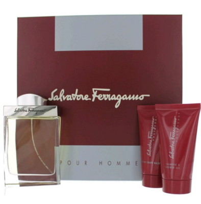 Salvatore Ferragamo Pour Homme Three Piece Gift Set