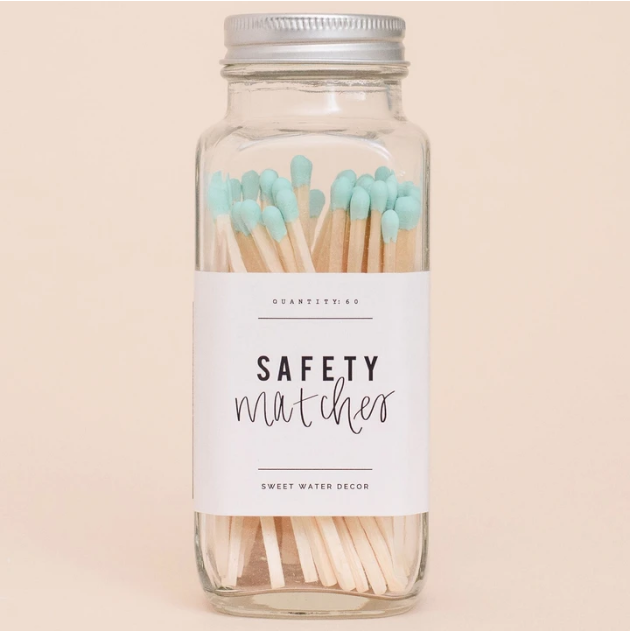 SWD Mint Safety Matches In A Glass Jar