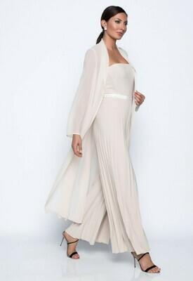 Frank Lyman Knit Jumpsuit in Champagne
