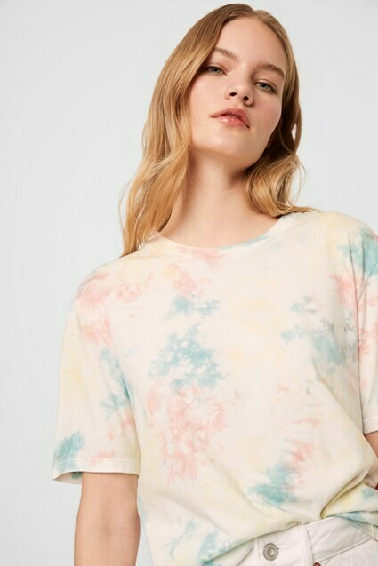 French Connection Sadie Tie Dye Jersey T-Shirt in Multi Colors