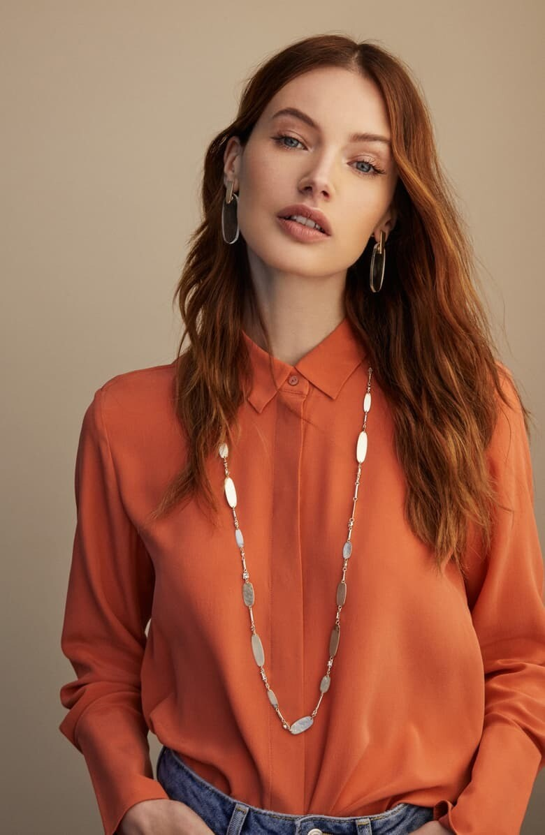Kendra Scott Claret Necklace in Smoky Mix With Gold Plate