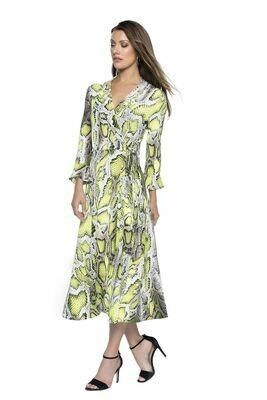 Frank Lyman Snake Print Wrap Dress