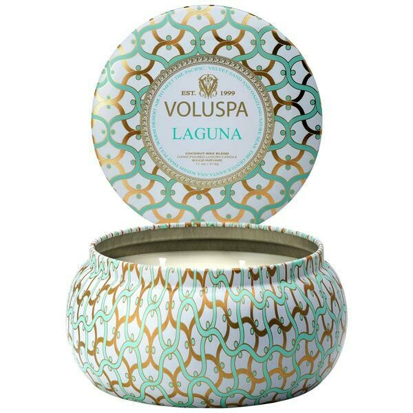 Voluspa Laguna 2 Wick Maison Metallo Candle