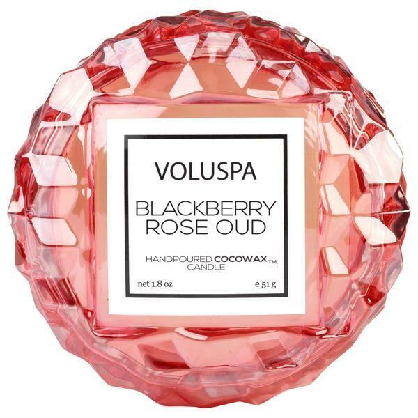 Voluspa Blackberry Rose Oud Macaron Candle
