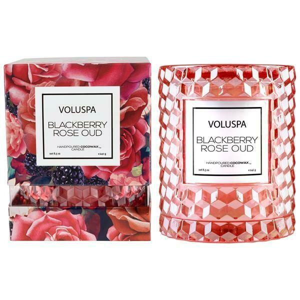 Voluspa Blackberry Rose Oud Cloche Candle