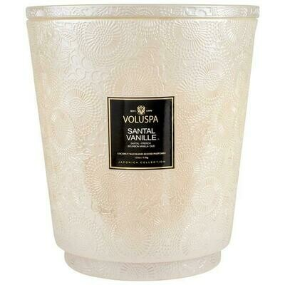 Voluspa Santal Vanille Five Wick Hearth Candle With Lid/Tray