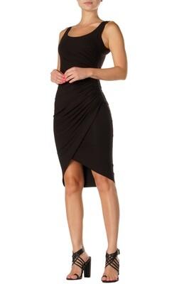 Elan Dress w/ Ruched Side in Black