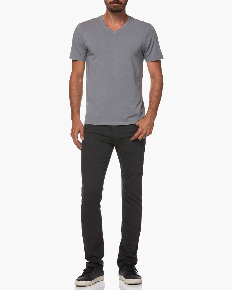 Paige Grayson V Neck Tee Shirt in Dawn Grey