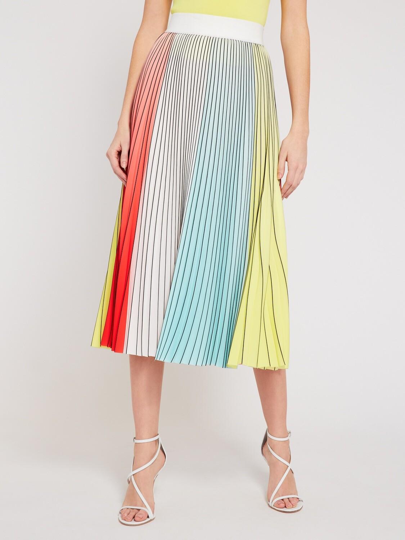 Alice & Olivia Arden Pleated Mini Skirt In Multicolor