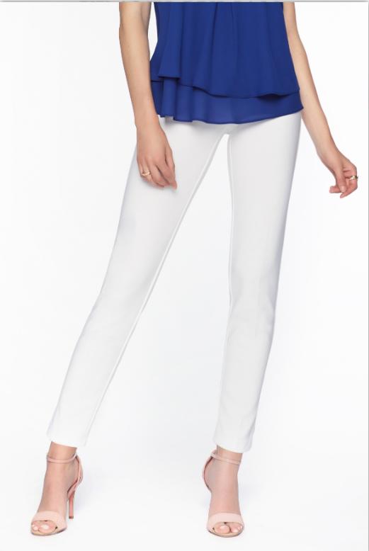 Frank Lyman Basic Straight Leg Pant in Off White
