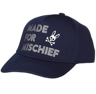 Psycho Bunny Mens Baseball Cap In Navy