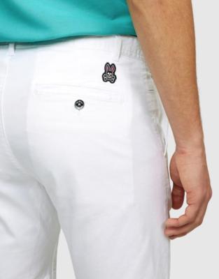 Psycho Bunny Mens Charlie Shorts In White