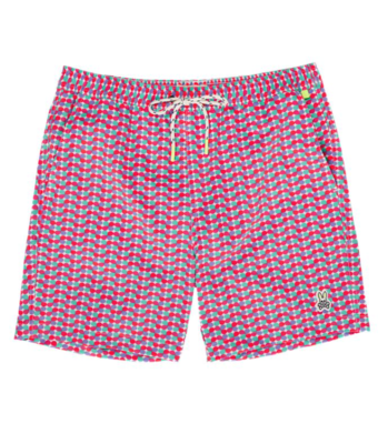 Psycho Bunny Mens Crosby Swim Trunks In Helio