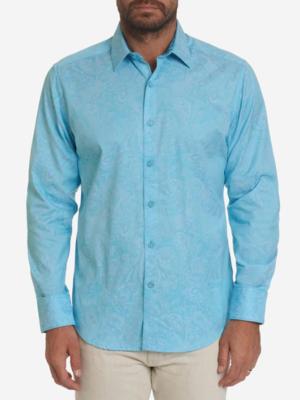 Robert Graham Andretti Woven Shirt In Teal