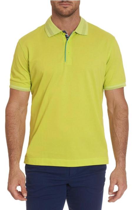 Robert Graham Champion Performance Polo Shirt in Lime