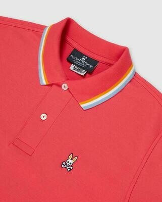 Psycho Bunny Bower Polo In Camelia