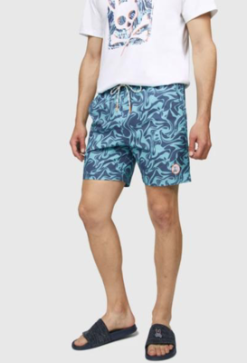 Psycho Bunny Mens Askim Swim Trunks in Navy