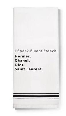 LA Trading Company I Speak Fluent French Dish Towel