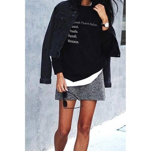 LA Trading Company Fluent Italian Crewneck Sweatshirt In Black