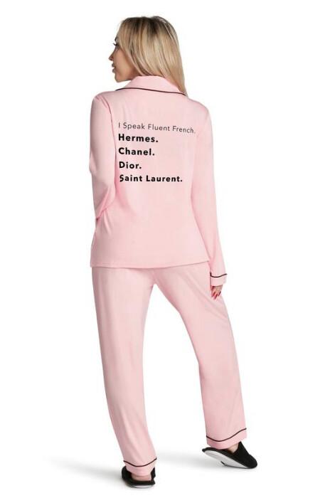 LA Trading Company Fluent French Pajama Set In Pink