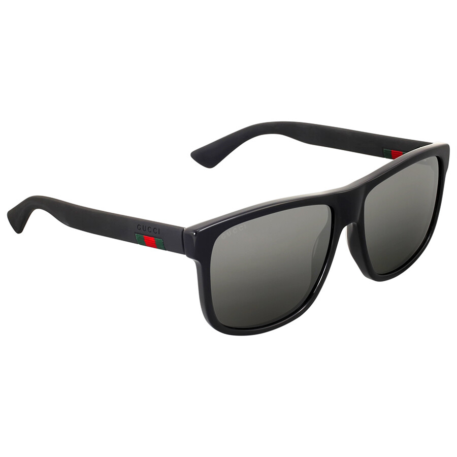 Gucci Sunglass Man Acetate In Black With Grey Lenses