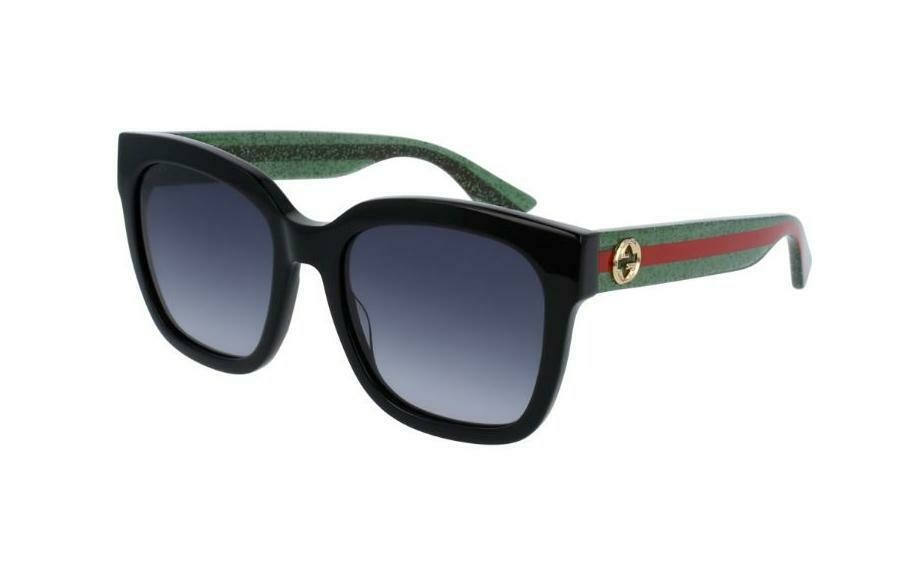 Gucci Sunglass Woman Acetate In Red and Green With Grey Lenses