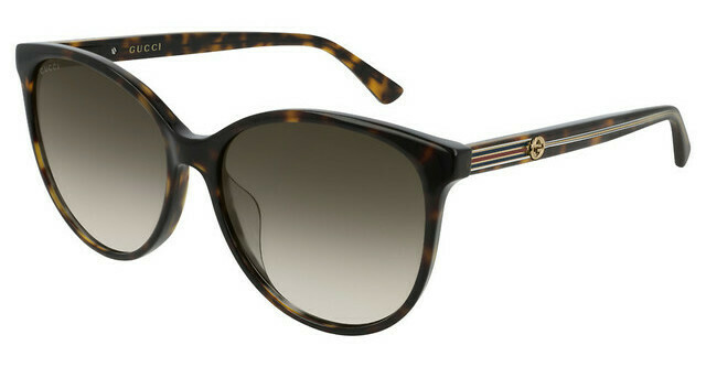 Gucci Sunglass Woman Acetate In Havana Brown with Grey Lenses
