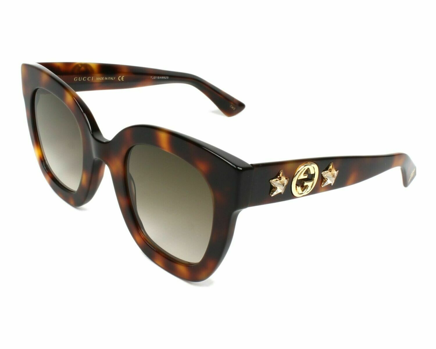 Gucci Sunglass Woman Acetate In Havana Brown With Brown Lenses