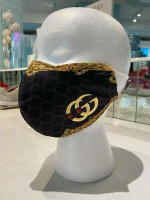 Black & Gold GG Face Mask