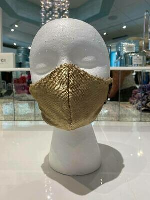 Gold Sequin Fashion Face Mask