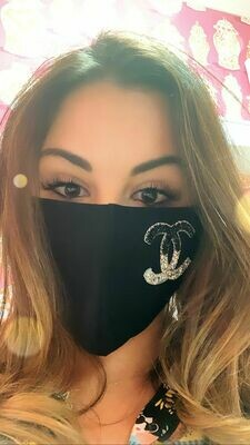 Jackie Z Glitter Ombre CC Mask In Black and Silver