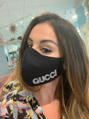 Jackie Z Glitter GG Mask In Silver