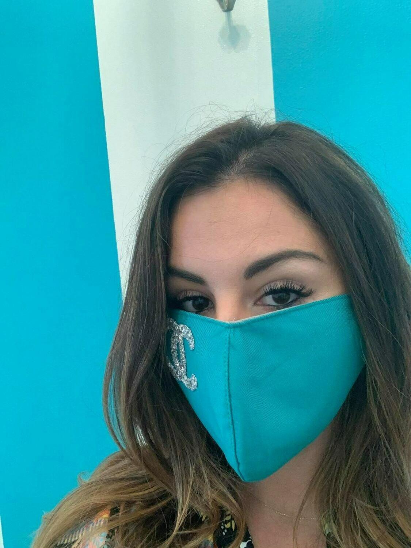 Jackie Z Glitter Mask Interlocking CC In Teal