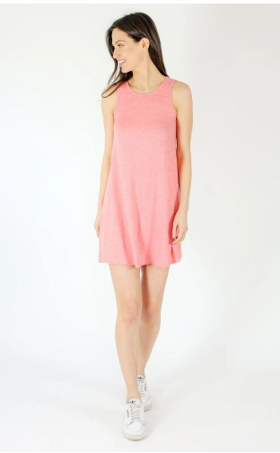 Six Fifty Racer Dress in Coral Chambray