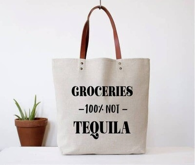 Fun Club Groceries Not Tequila Tote Bag