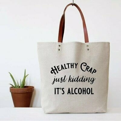 Fun Club Healthy Crap Tote Bag