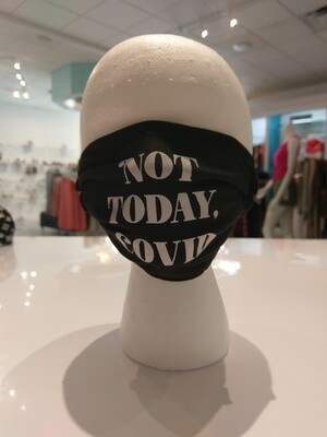 Fun Club Not Today Covid Mask in Black
