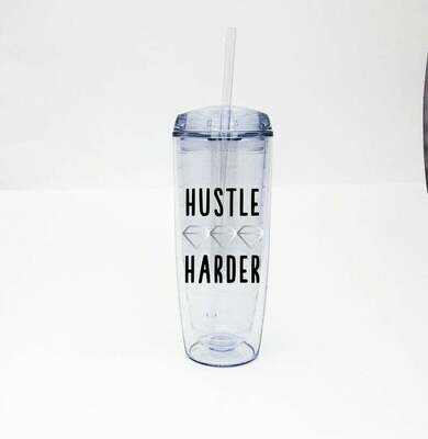 Jackie Z Hustle Harder Insulated Water Tumbler