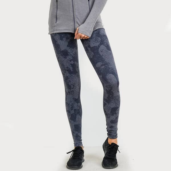 Mono B Striped High Waisted Seamless Leggings in Camouflage