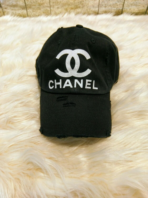 Designer CC Baseball Hat in Black