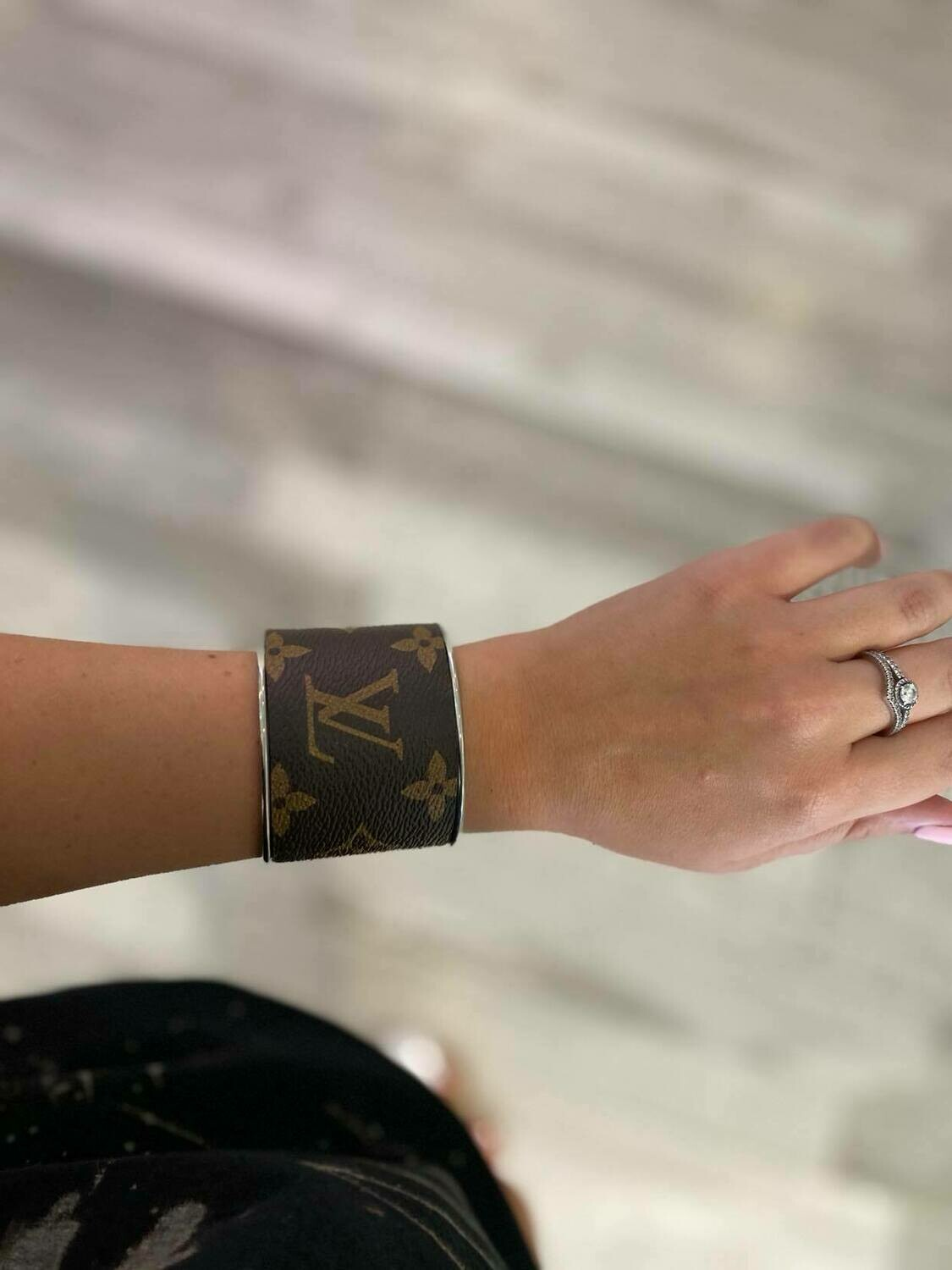 Designer LV Brown and Gold Cuff Bracelet