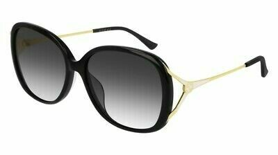Gucci Sunglass Woman Acetate In Black With Grey Lens