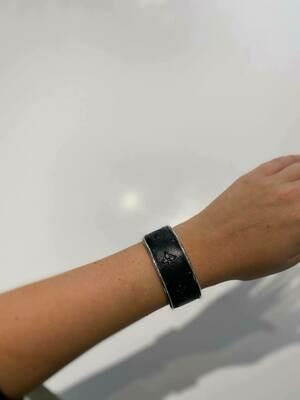 Designer LV Black Silver Small Cuff Bracelet