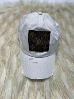 Designer LV Baseball Hat in White
