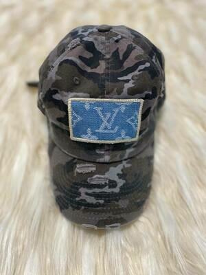 Designer Denim LV Baseball Hat in Camo